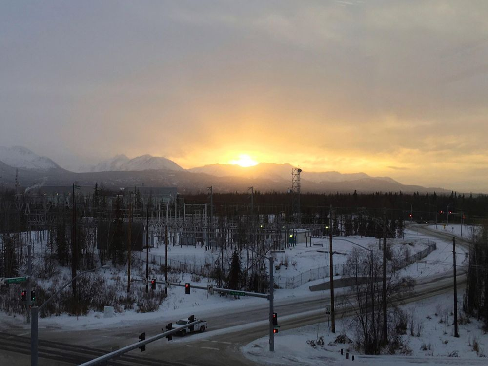 Winter daylight in Anchorage, AK - image 1 - student project