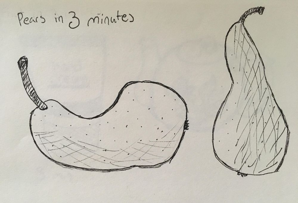 3 minute traditional drawing exercise - image 1 - student project