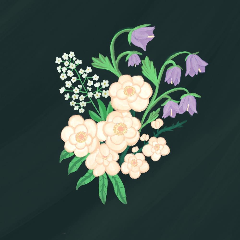Guache florals - image 2 - student project