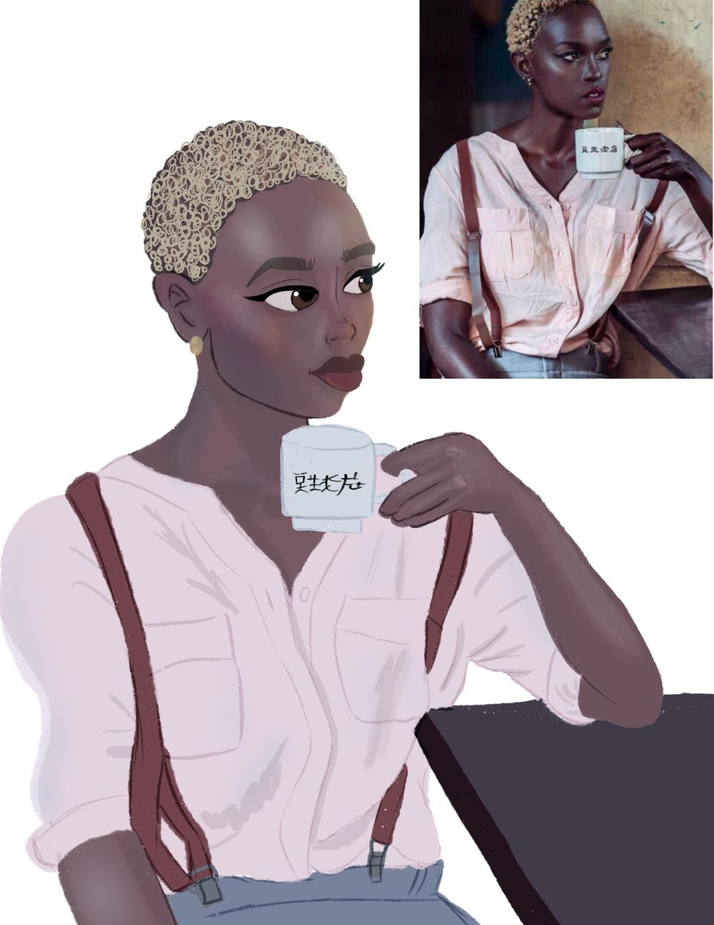 Girl with Tea - image 1 - student project