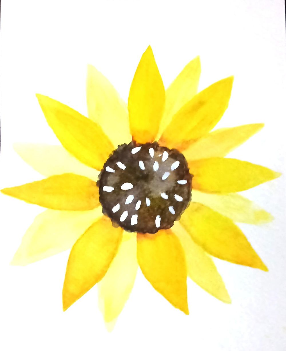 Botanical watercolors painting - image 1 - student project