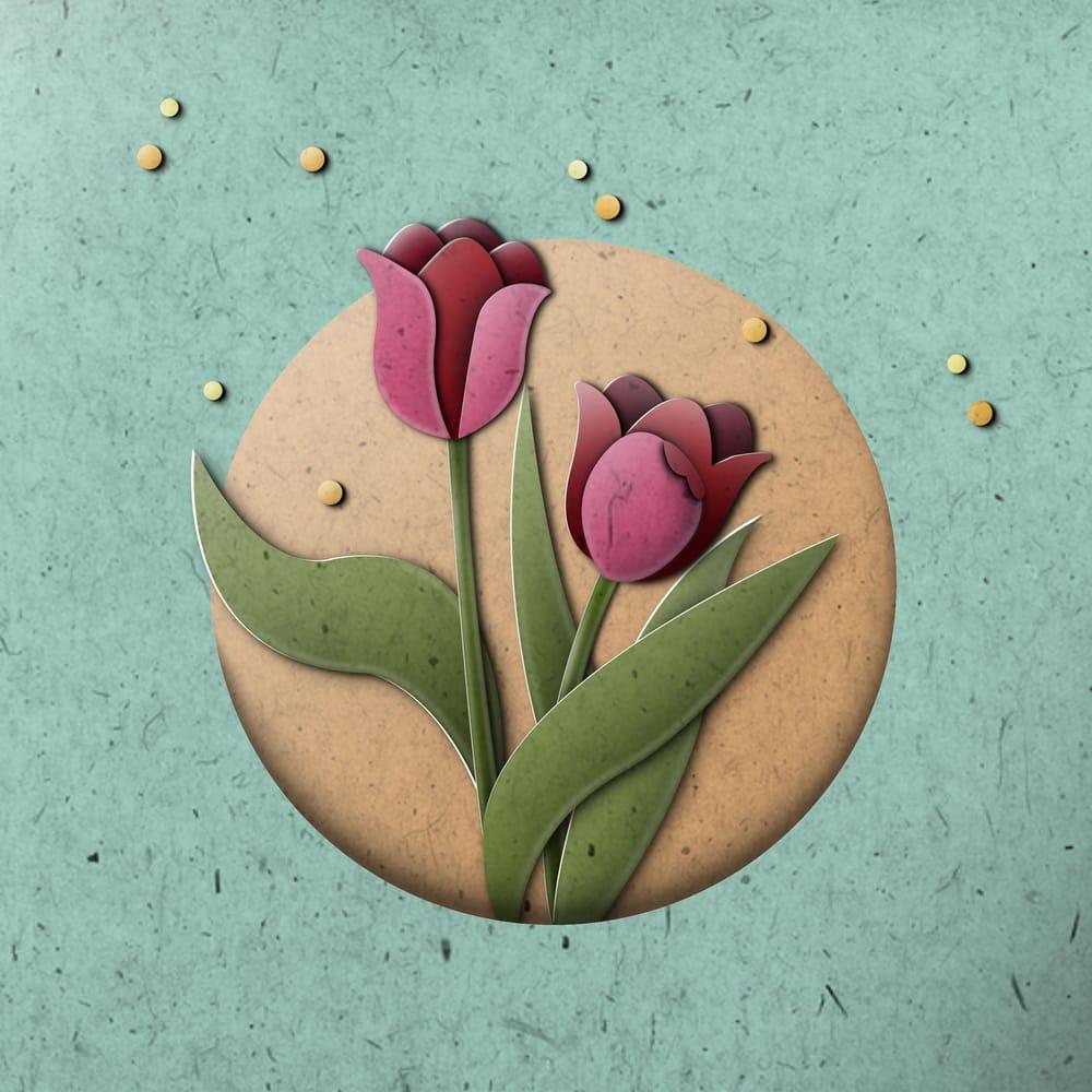 Paper Ramen & Tulips - image 2 - student project