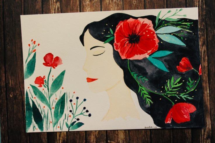 Flower portrait - image 1 - student project