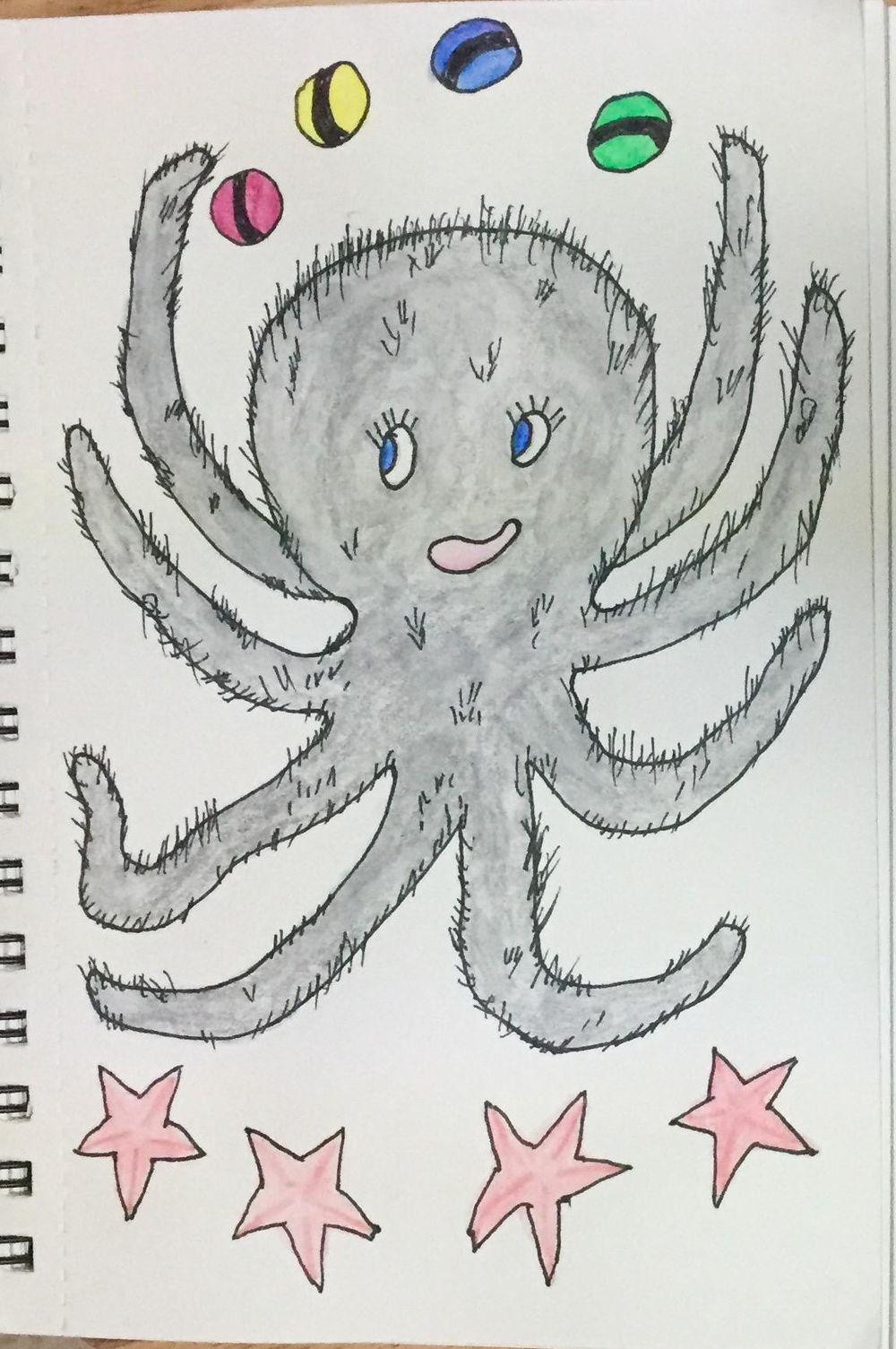 Harriett the Hairy Octopus (who juggles) - image 6 - student project
