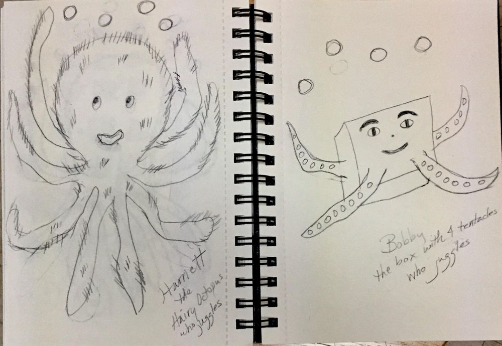 Harriett the Hairy Octopus (who juggles) - image 5 - student project