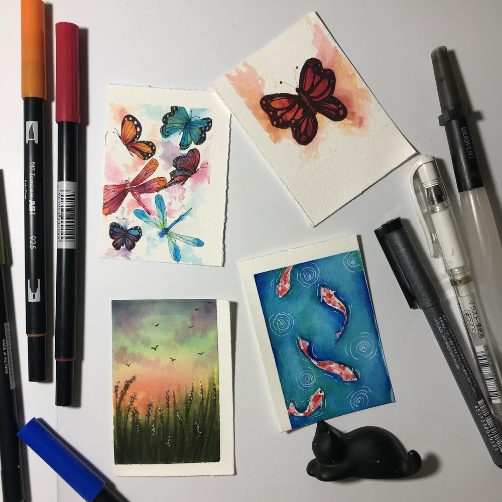 Waterbased markers painting - image 1 - student project