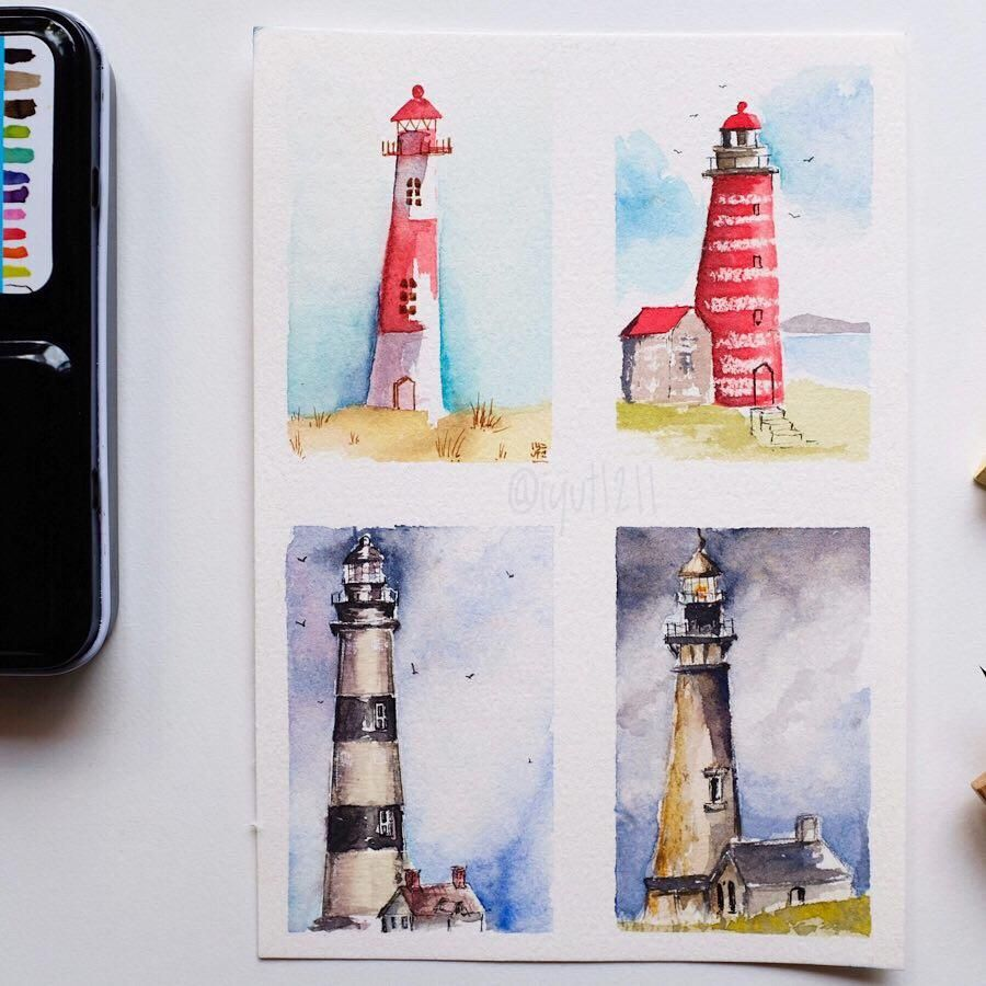 Mini Lighthouses - image 1 - student project