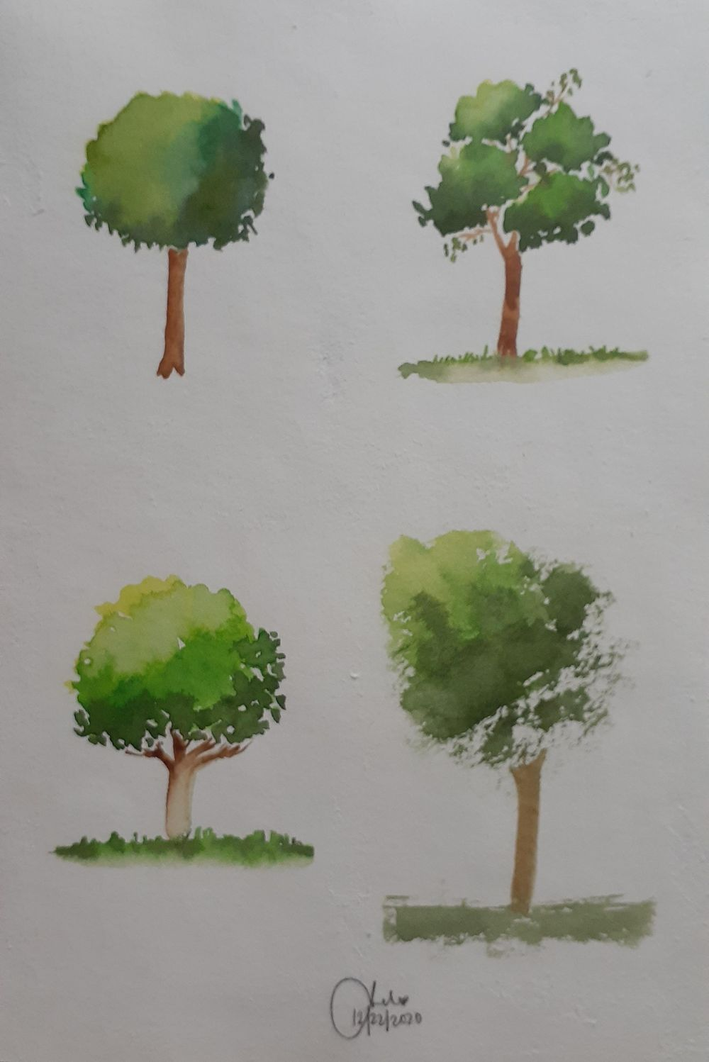 Watercolor Trees by Michelle - image 2 - student project