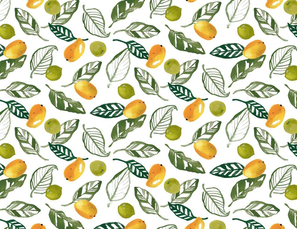 Mango Lime Print - image 2 - student project