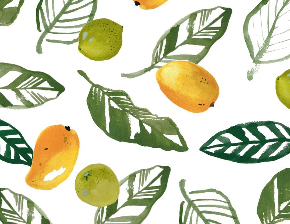 Mango Lime Print - image 1 - student project