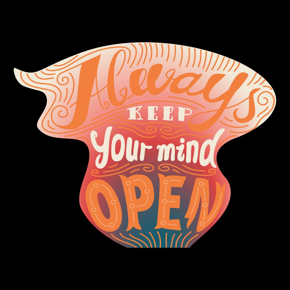 Keep your mind open- Lettering - image 3 - student project