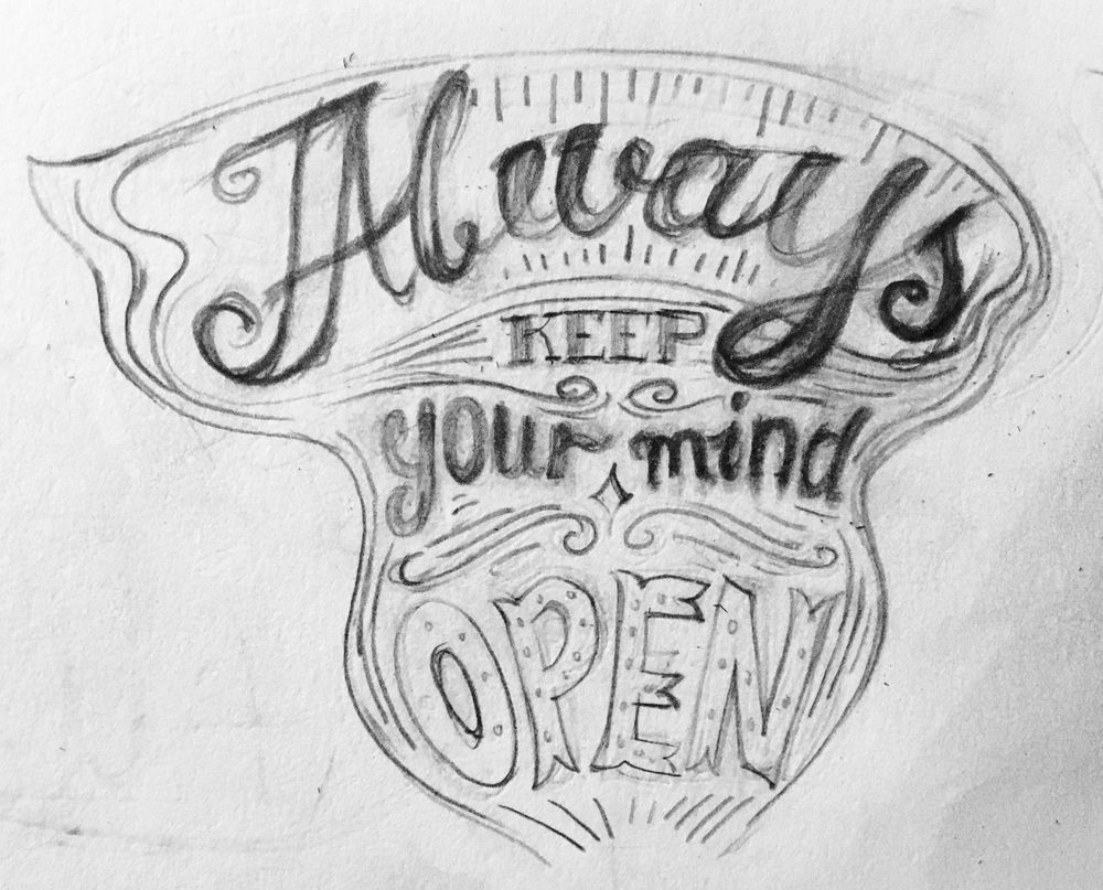Keep your mind open- Lettering - image 2 - student project