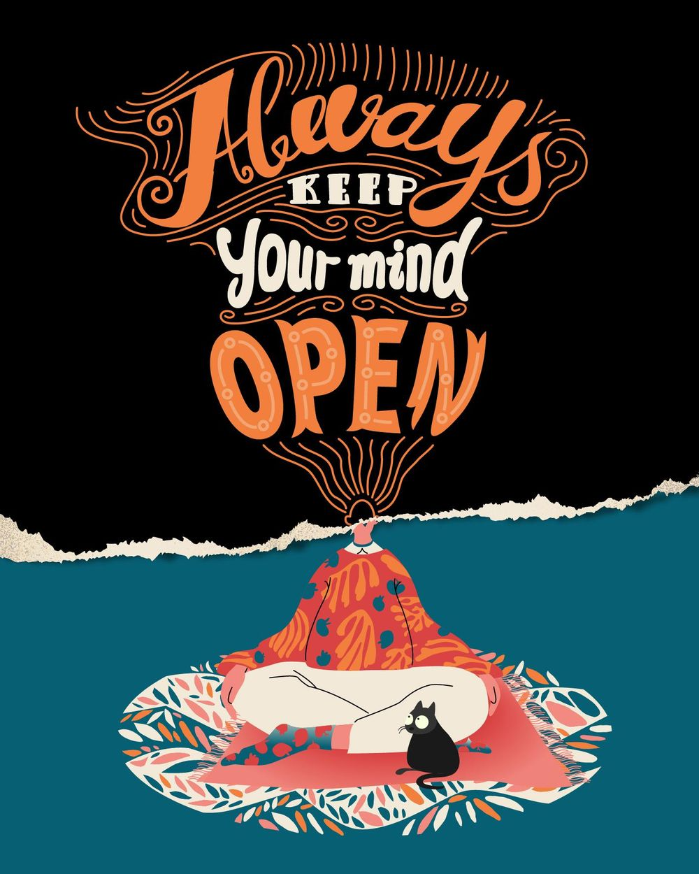 Keep your mind open- Lettering - image 1 - student project