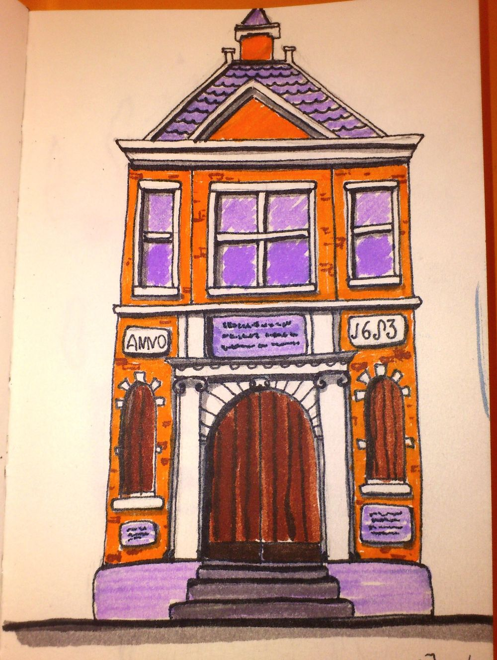 Little house. Markers. - image 1 - student project