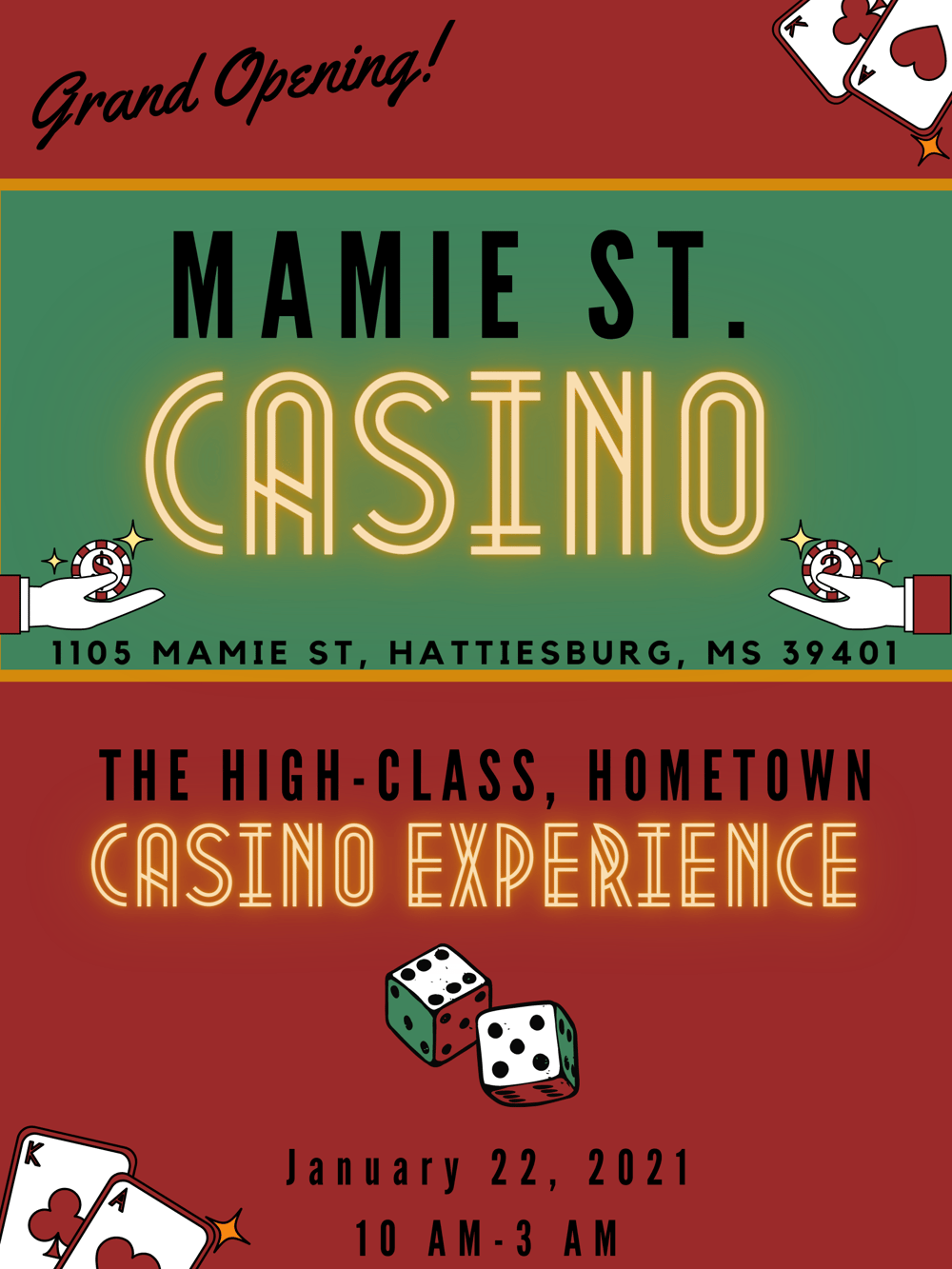 Casino Poster - image 1 - student project