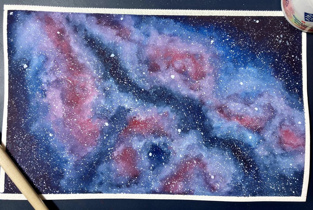 Watercolour Galaxies: Shapes - image 1 - student project