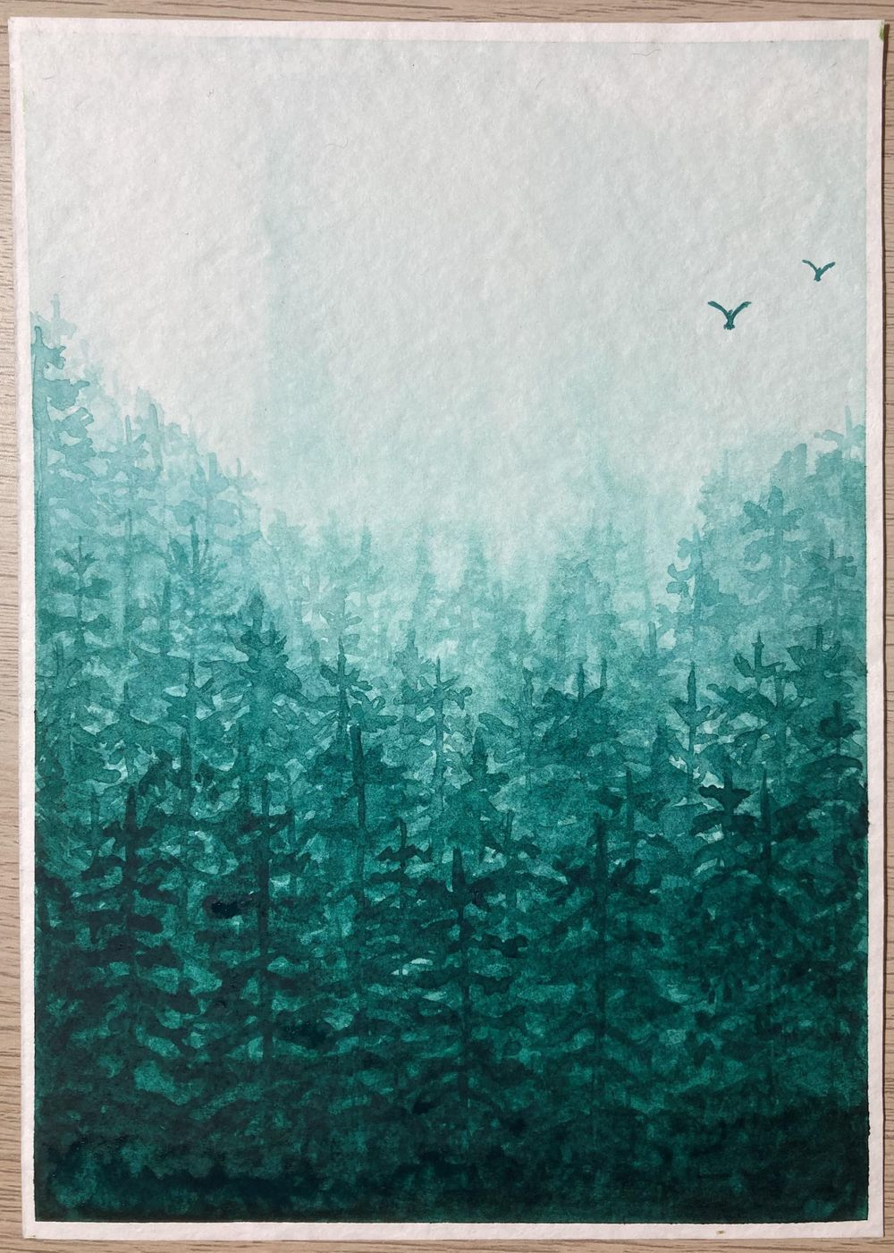 Monochrome Forest in Viridian Green - image 1 - student project