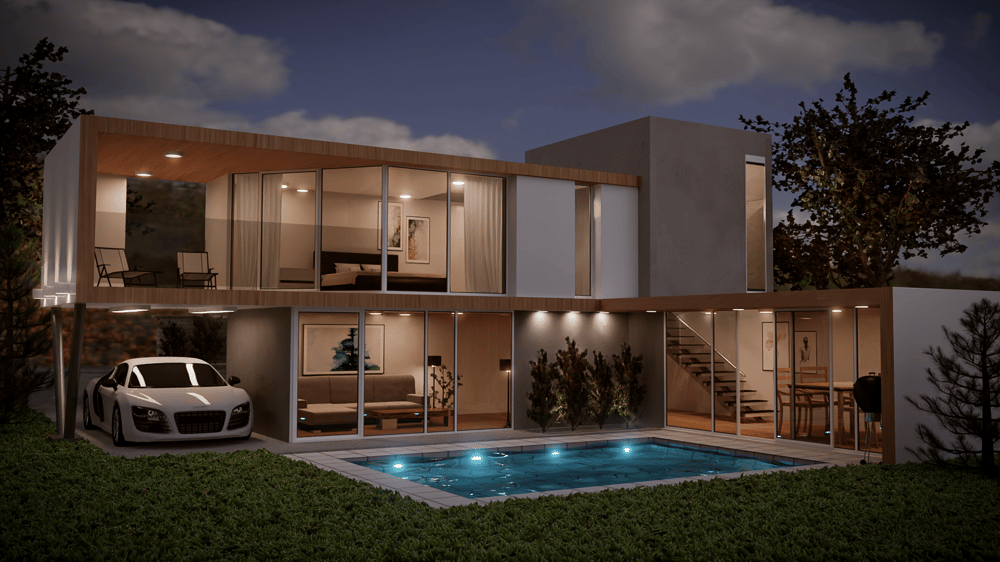 3D House in Blender - image 1 - student project