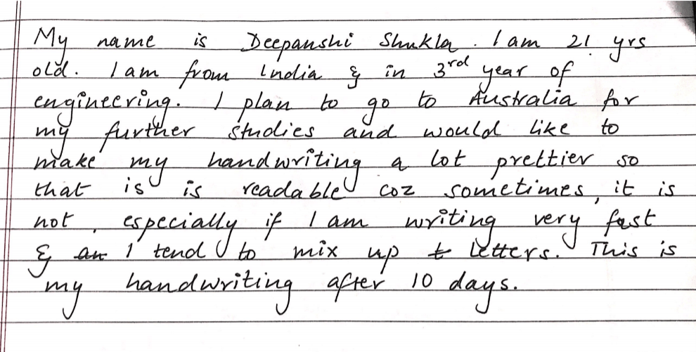 my handwriting - image 3 - student project
