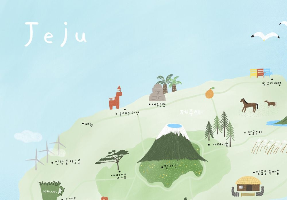 illustrated map by Dewy - image 4 - student project