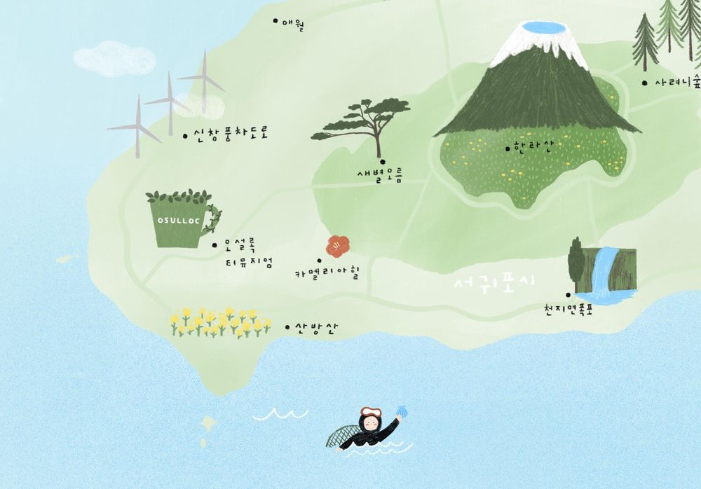 illustrated map by Dewy - image 6 - student project