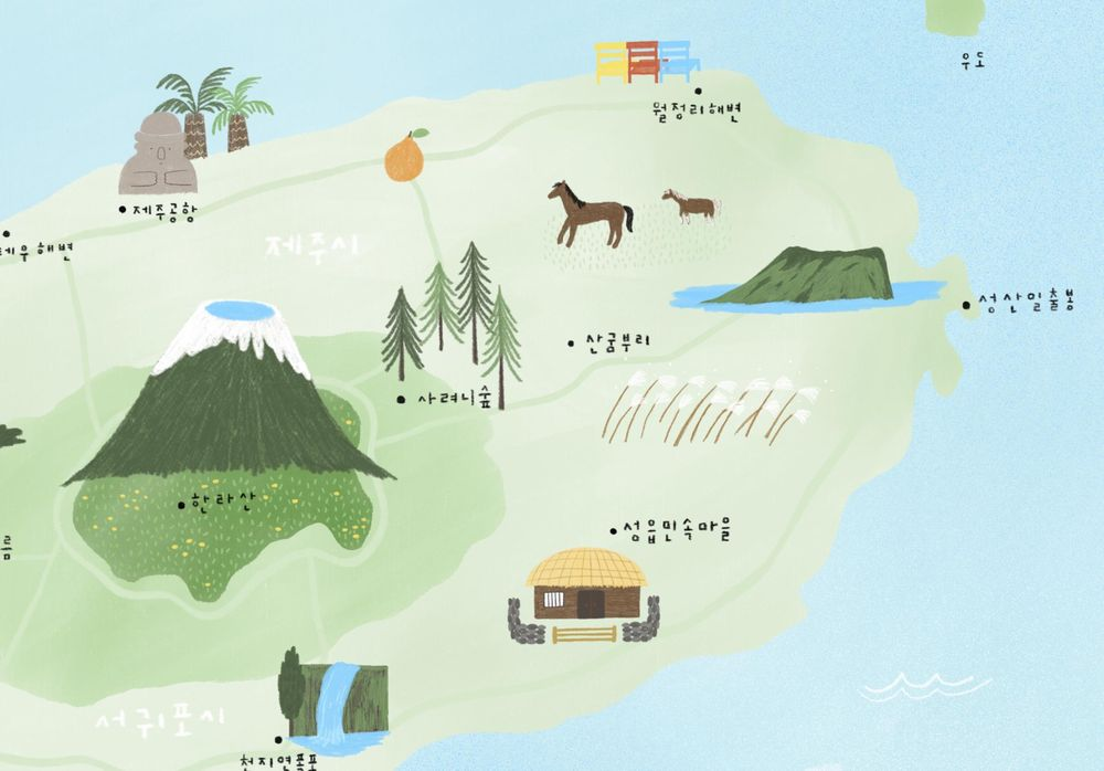 illustrated map by Dewy - image 5 - student project