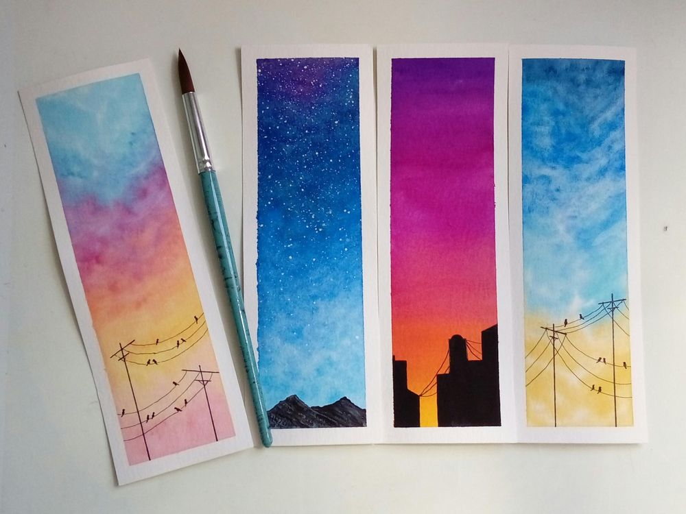 Watercolor skies - image 3 - student project