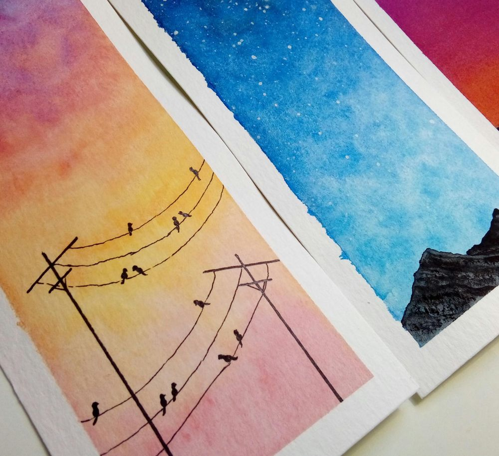 Watercolor skies - image 2 - student project