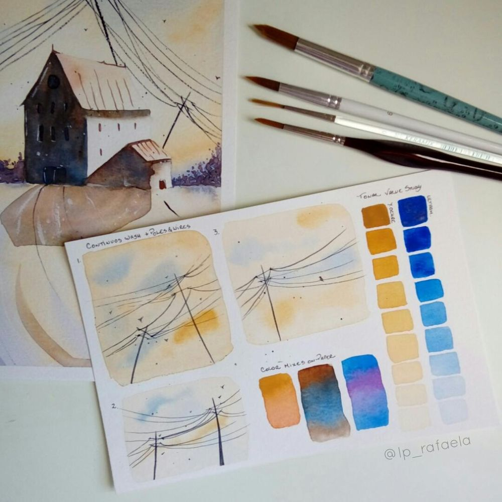 Lights and Shadows in Watercolor - image 1 - student project