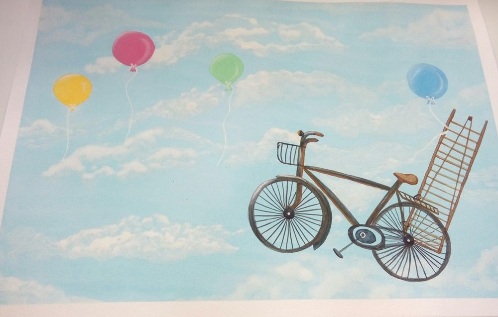 Watercolor Bicycle - image 3 - student project