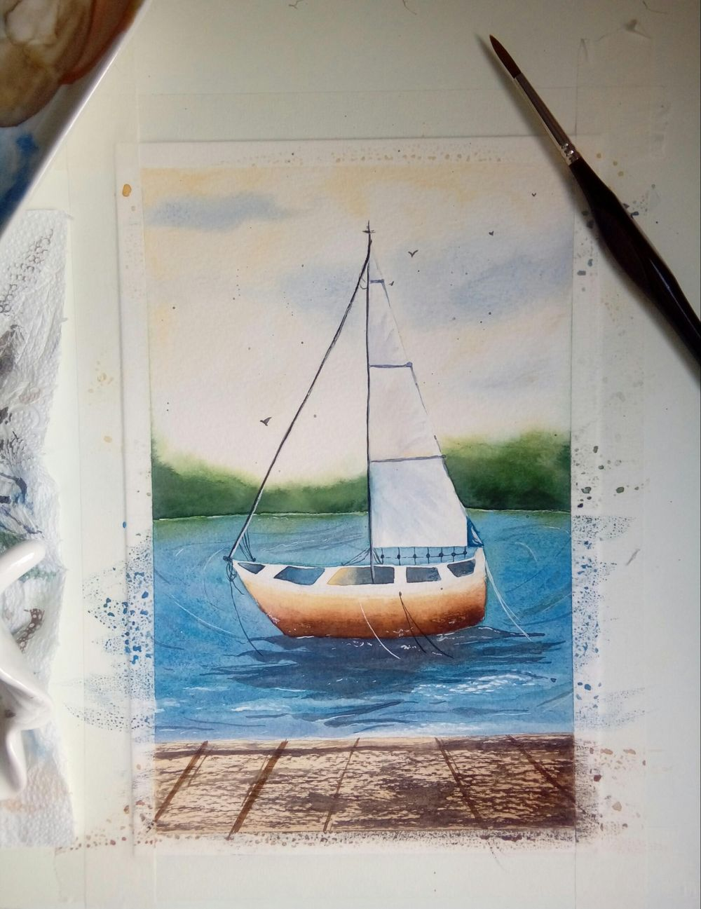 Watercolor Seascape - image 4 - student project