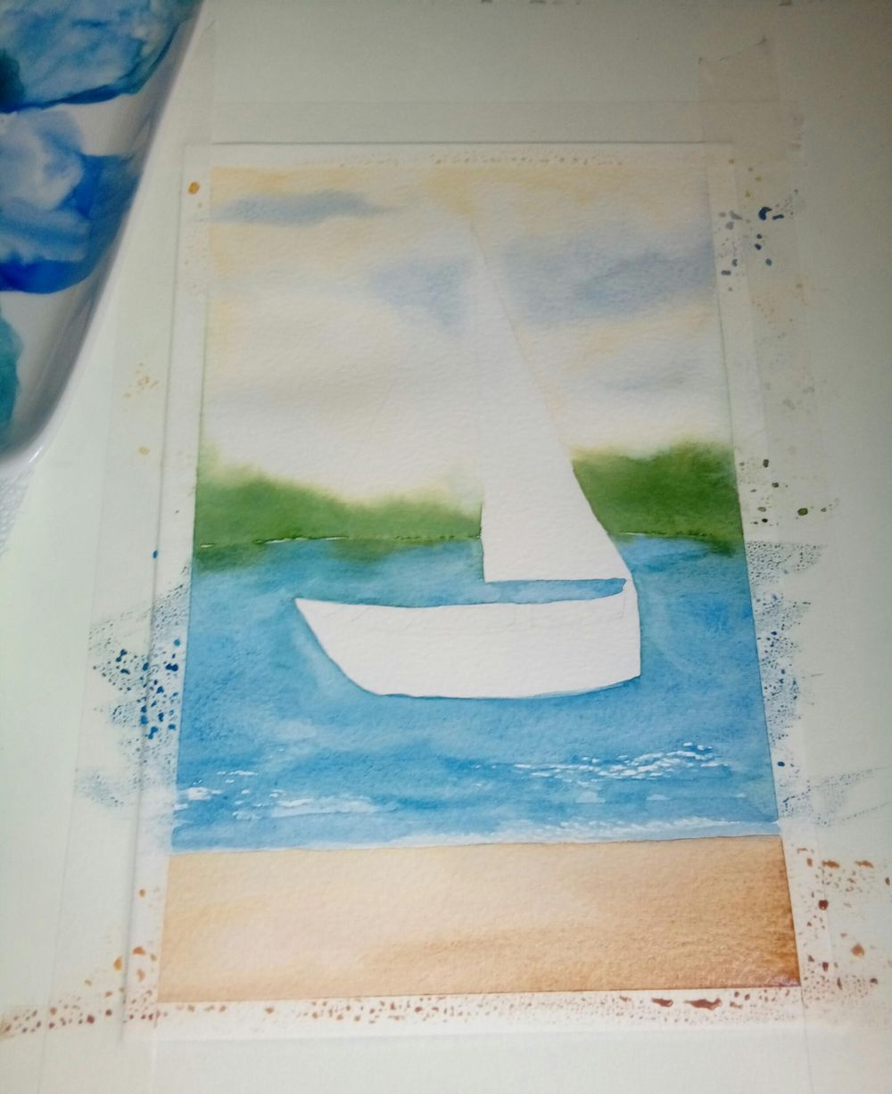 Watercolor Seascape - image 3 - student project