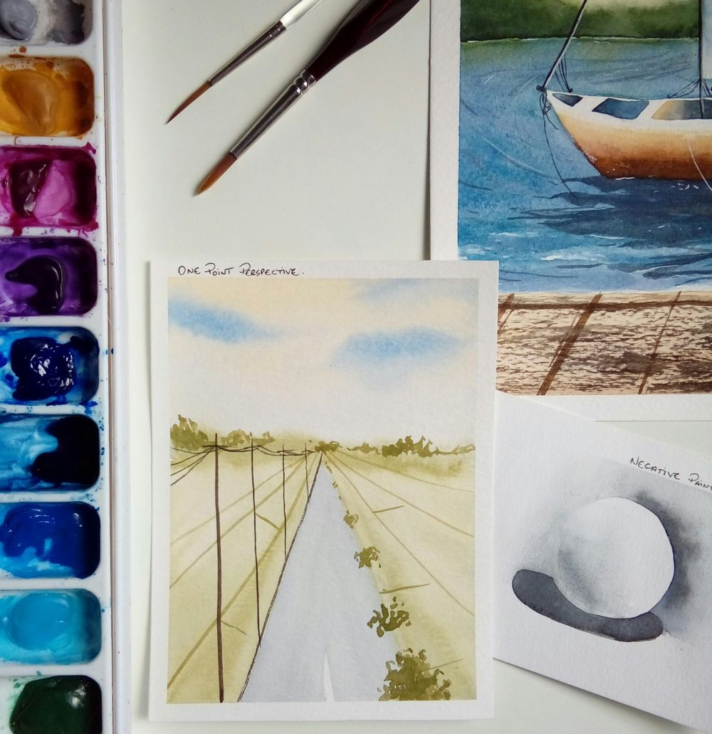 Watercolor Seascape - image 1 - student project
