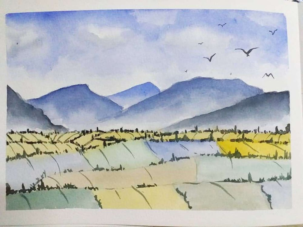 Expressive Watercolor Landscapes - image 1 - student project