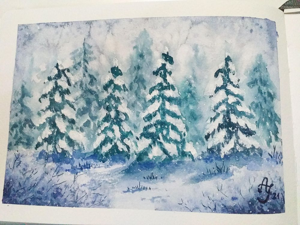 Snowy forest - image 1 - student project