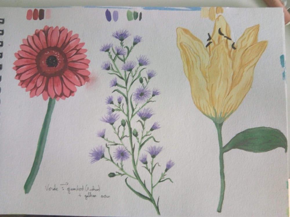 My gouache florals - image 1 - student project