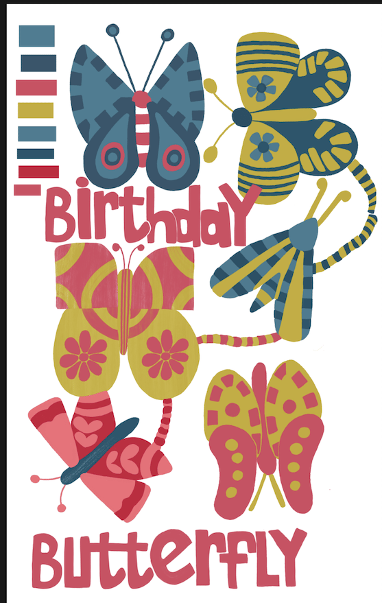Birthday Butterfly - image 2 - student project