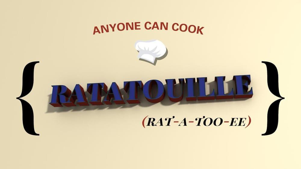 RATATOUILLE Title Card - image 1 - student project