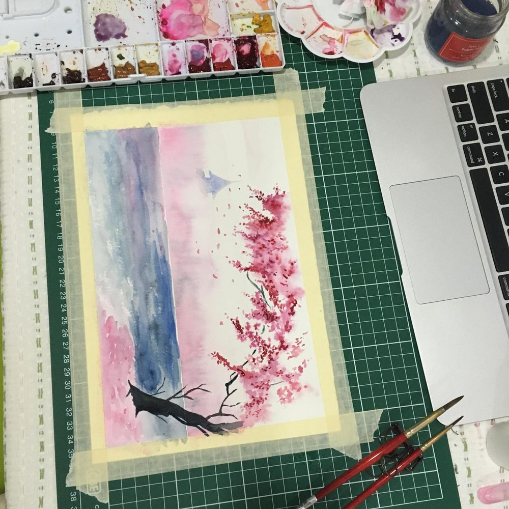 Dreamy Spring Landscape - image 2 - student project