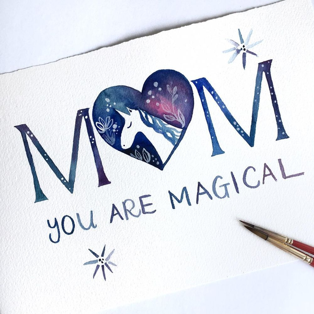 Mother's Day Cards in Watercolour - image 7 - student project
