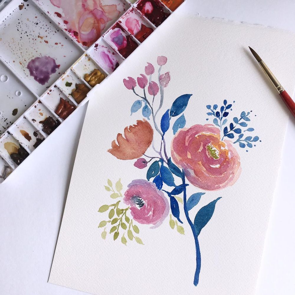 Mother's Day Cards in Watercolour - image 1 - student project