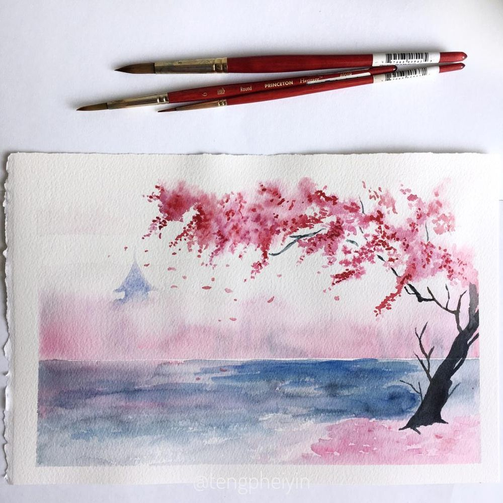 Dreamy Spring Landscape - image 3 - student project