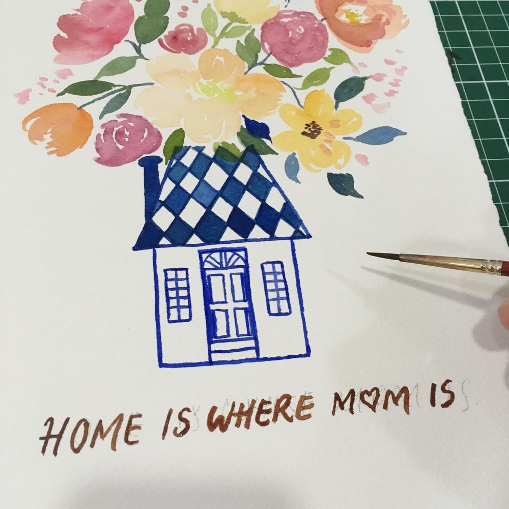 Mother's Day Cards in Watercolour - image 4 - student project