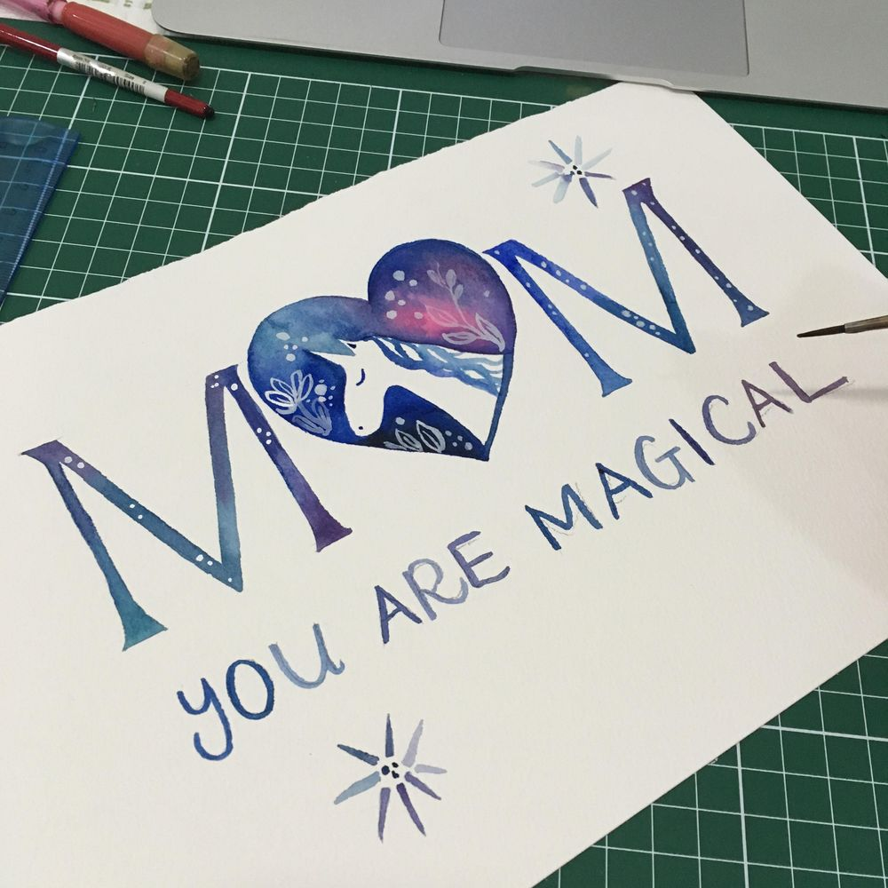 Mother's Day Cards in Watercolour - image 6 - student project