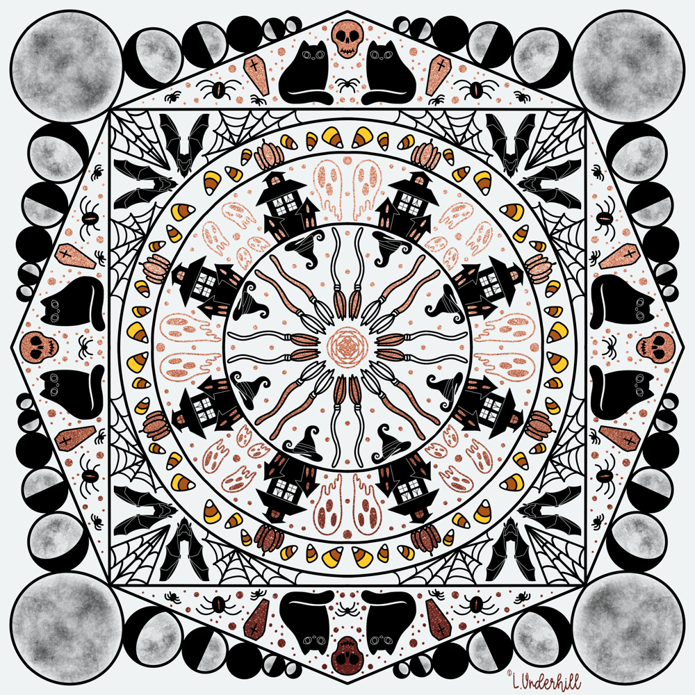 Halloween Mandala - image 1 - student project