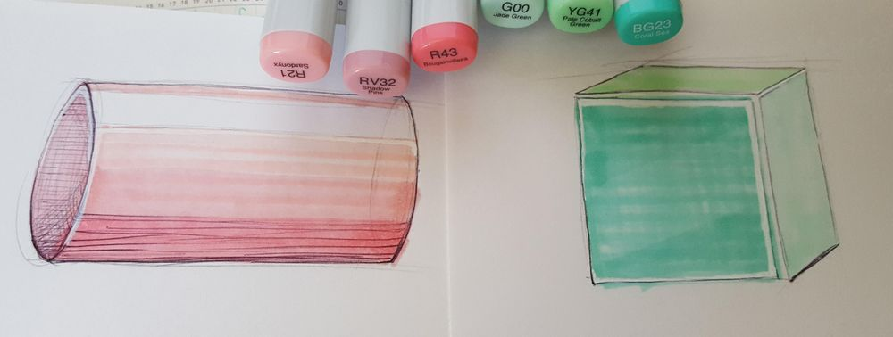 Cylinder and cube!!! ^-^ - image 2 - student project
