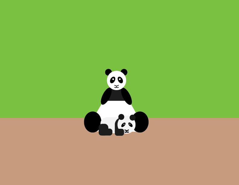 Panda Vector - image 1 - student project