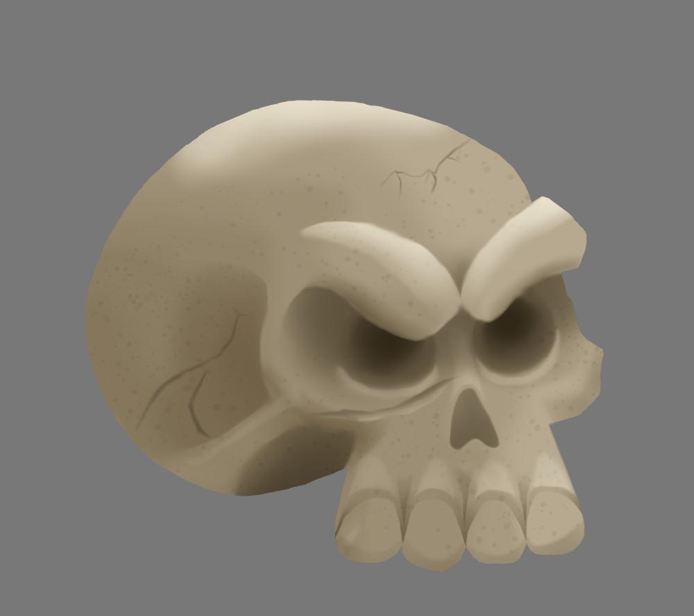 Skull & Tree - image 2 - student project