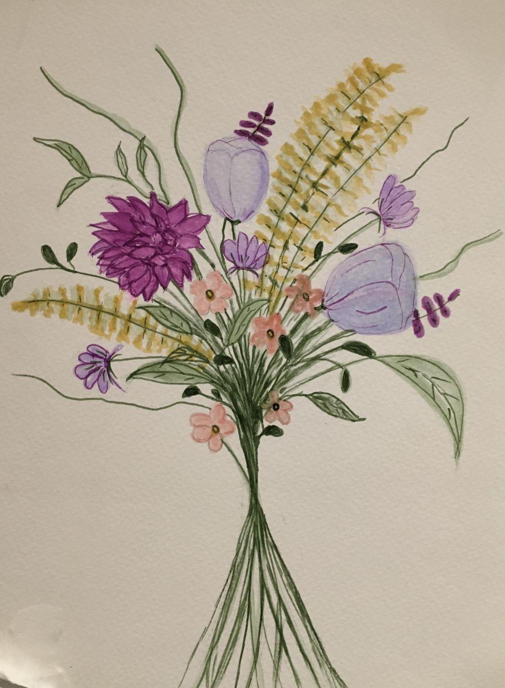 Brush Pen Bouquet - image 1 - student project