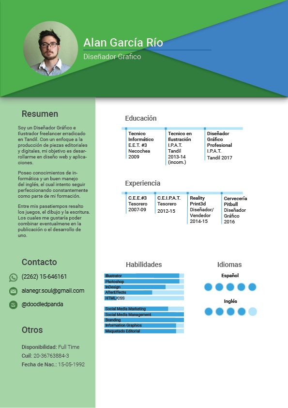 My new infographic CV - image 1 - student project